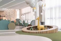 Is this an amusement park or a Kindergarten? - DesignWanted Kindergarten Interior, Kindergarten Design, Kids Play Area, Kids Room, Kids Cafe, Hospital Design, Playground Design, Learning Spaces, Kid Spaces