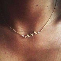 //: ~*❀*~ / necklace / jewerly / collier / gold / or / bijoux Dainty Jewelry, Cute Jewelry, Jewelry Box, Jewelry Accessories, Fashion Accessories, Jewelry Design, Jewlery, Silver Jewelry, Simple Jewelry