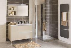 salle de bain moderne taupe et grise