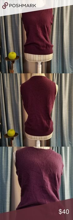 🌻🌺🌻LORD & TAYLOR CASHMERE VEST/SLEEVELESS SHIRT SIZE:large   BRAND:Lord & Taylor   CONDITION:excellent, just a few wrinkles   COLOR:dark purple (best seen in last photo)  2 ply cashmere...so soft!   🌟POSH AMBASSADOR, BUY WITH CONFIDENCE!   🌟CHECK OUT MY OTHER ITEMS TO BUNDLE AND SAVE ON SHIPPING!   🌟OFFERS WELCOME!   🌟FAST SHIPPING! Lord & Taylor Tops