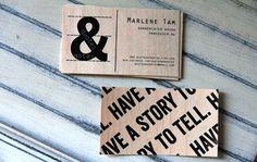 Quotes & Notes Business Cards design graphic | #Business #Card #letterpress #creative #paper #bizcard #businesscard #corporate #design #visitenkarte #corporatedesign < repinned by www.BlickeDeeler.de | Have a look on www.LogoGestaltung-Hamburg.de