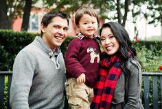 cute & little blog | petite fashion | fall family photoshoot | loft waterfall cardigan, buffalo check plaid scarf | outfit