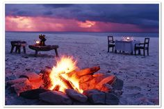 Canoe to a catered, candlelit dinner on an island beach. $500 @ http://TheBestCanoeCompanyEver.com/dinner