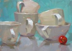 """Daily Paintworks - """"Little Red"""" by Carol Marine"""