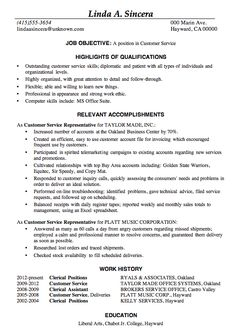 resume sample customer service job this sample resume is in the achievement resume format