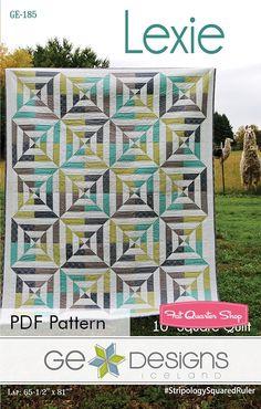 Lexie Downloadable PDF Quilt Pattern<BR>G.E. Designs