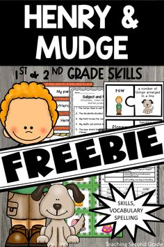 Henry and Mudge Journeys Activities, Worksheets and Centers for Grade. This is a 104 page free resource. Library Lessons, Reading Lessons, Reading Strategies, Reading Activities, Guided Reading, Teaching Reading, Reading Comprehension, Reading Art, Learning