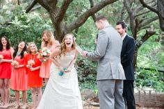 Beautiful Ceremony Moment of The Bride Laughing