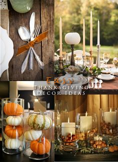 Easy Thanksgiving Decor Ideas Happy Fall Y'all, Thanksgiving Ideas, Thanksgiving Parties, Thanksgiving Decorations, Holiday Decorations, Holiday Ideas, Fall Halloween, Fall Table, Small Pumpkins