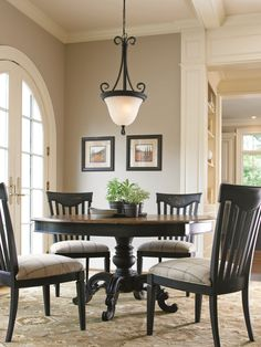 Great Rooms Collection- Brimfield Table and Wine Barrel Side Chair