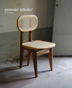 """Estevão Toledo: Cadeira """"FLORIDA"""" Palhinha/ ESTEVÃO TOLEDO"""