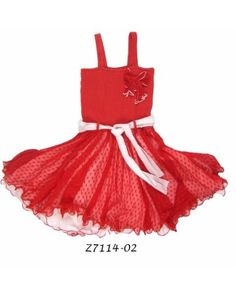 Smocked dress with net skirt - Pink Coral and white