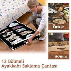 12 Bölmeli Ayakkabı Saklama Çantası Hergünyeni.com'da.