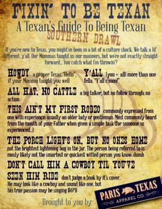"""Part 2 of our """"Fixin' To Be Texan: A Texan's Guide To Being Texan"""" series... Southern Drawl, y'all"""