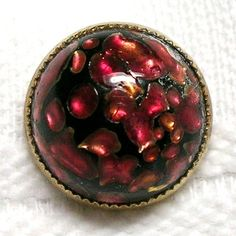 Beautiful Antique Cranberry Red Rose Pink Leo Popper Art Glass Button | eBay