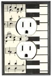 Music is probably going to be our laundry room theme. I like these wall plates.