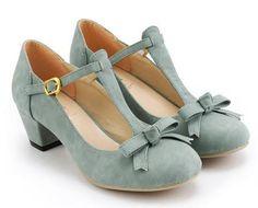 Classy retro style women shoes elegant strappy medium chunky heel dress pumps