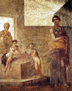 Medea before the murder of the children  Fresco from Pompeii, House of Castor, ca. 62-79 AD National Archaeological Museum - Naples - Italy