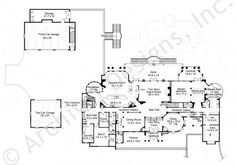 Chateau De Lanier House Plan - Castle Floor - House Plan -  Lanier First Floor Plan