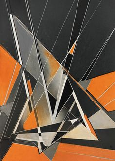 The silent clash of the triangles is a purely abstract linear art work, in which I once more used the stark contrast of grey and orange colors, clear linework and geometric forms ordered at multiple layers- the visual scene is dynamic and powerful and can be interpreted in various ways by mentally grouping the different forms. (c) Ernst Kruijff