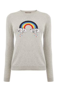 EMBROIDERED RAINBOW KNIT | Oasis