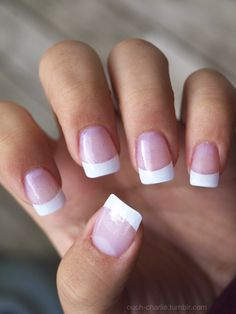 New Gel Manicure Spring French Tips 63 Ideas Fake Nails French, Reverse French Nails, French Acrylic Nails, French Acrylics, French Manicures, Manicure Colors, Pink Manicure, Nail Colors, Manicure Ideas
