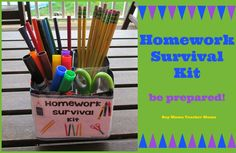Boy Mama Teacher Mama: Homework Survival Kit