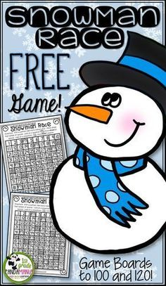 FREEBIE Math game for centers or inside recess! Great for Kindergarten, 1st Grade or 2nd Grade! Uses 100's grid and 120 grid.
