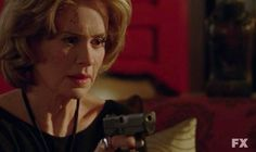 Lana (Sarah Paulson) you have a little.never mind.in epiosde 13 of American Horror Story: Asylum Ahs Asylum, American Horror Story Asylum, Mystery, Fictional Characters, Fantasy Characters
