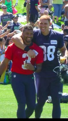 Russell Wilson #3 and The Jimmy Graham #88 Seattle Seahawks Training Camp 2015