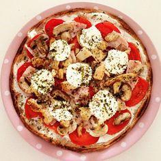 Pizza integral 0%grasa y baja en calOrias