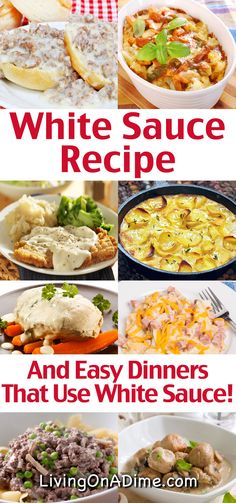 This homemade white sauce recipe is super easy to make and is useful for enhancing all kinds of meals. This white sauce is easily adaptable for various recipes and we have included easy dinner recipes and tips for great ways to use the white sauce! White sauce and white gravy are essentially the same thing, so you can use it for biscuits and gravy or as a sauce for many main dish and breakfast recipes. Read on to find some easy meal ideas you can make with it!