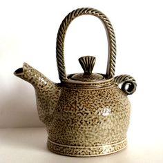 JANE HAMLYN: Small Brown Teapot : Saltglazed