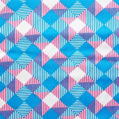 vintage neon cotton fabric sample // coupon tissu fluo années 60/70 ✭ pattern