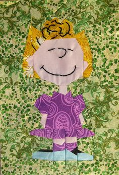 Sally paper-pieced quilt (pattern linked from the Snoopy quilt, pinned earlier)