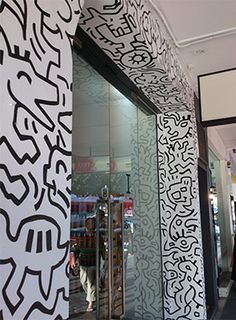 Etched glass vinyl decals we could have it in reverse in for Environmental graphics wall mural