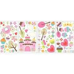 York Wallpaper RMK1605SCS Border Book Happi Cupcake Land Wall Decals