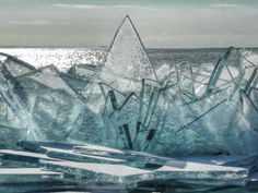 Blue Ice by Ed Lee on Capture Minnesota // Shards of broken ice have been piled up by the waves. The sun shining through shows off the blue color of Lake Superior ice. Lake Superior, Lake Michigan, Miss Minnesota, All Nature, Fauna, Great Lakes, North Shore, The Great Outdoors, Natural