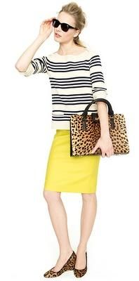 I always knew there was something magical about leopard and stripes.  Wearing this Monday!