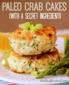 "You'll love these nutrient-packed, totally Paleo ""Secret Ingredient"" Paleo Crab Cakes"