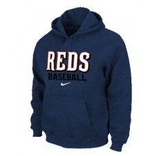 Wholesale Men Fashion Winter Cincinnati Reds Dark Blue Baseball Pullover Hoodie_Cincinnati Reds Pullover Hoodie