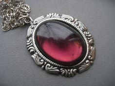 Gothic Necklace  Gothic Jewelry  Purple by SilverTrumpetJewelry, $24.00