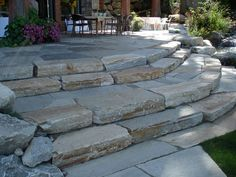 flagstone steps | Natural flagstone patio steps