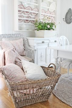I would love to have a large basket that would have extra linens and pillows to pull out for guests when they stay over.