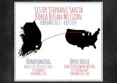 Custom Missionary Homecoming Invitation -  States and Countries