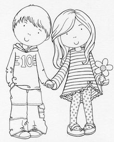by Gilian F Roberts. Cute for Matthys en Grietha Coloring Book Pages, Coloring Pages For Kids, Coloring Sheets, Adult Coloring, Copics, Digital Stamps, Clipart, Paper Dolls, Embroidery Patterns