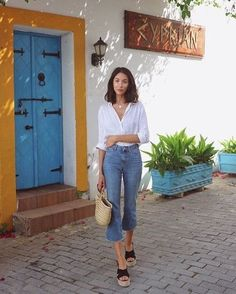 42 Basic Outfits Look Good for Spring - Fashion Outfits Basic Outfits, Classy Outfits, Casual Outfits, Work Outfits, Spring Summer Fashion, Spring Outfits, Look Fashion, Fashion Outfits, Feminine Fashion