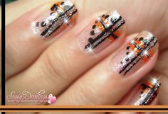 DIY halloween nails: DIY Halloween nail art : Halloween Plaid