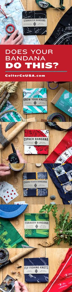 Click to see our current deals!   https://www.coltercousa.com  Find the perfect stocking stuffer for the camper, boy scout, girl scout, fisherman, survivalist, bushcrafter, and hiker on your list. Each of our bandana designs are printed on 100% cotton for maximum usability and durability. Made and printed in the U.S.A.