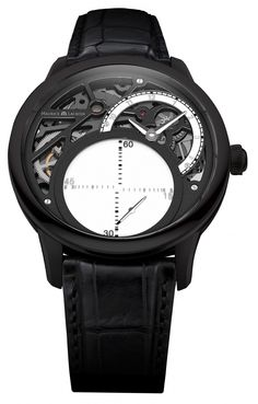 Maurice Lacroix Masterpiece Seconde Mystérieuse - stainless steel coated with black PVD